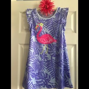 Cat and Jack Pink Flamingo Nightgown Size L 10-12